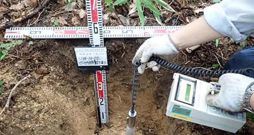 写真:土壌調査