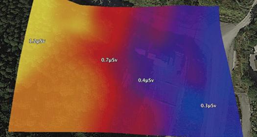 写真:放射線量測定結果(イメージ)