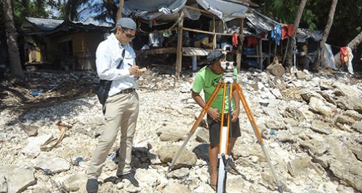 写真:沿岸災害対応のための礫養浜パイロットプロジェクト(JICA)