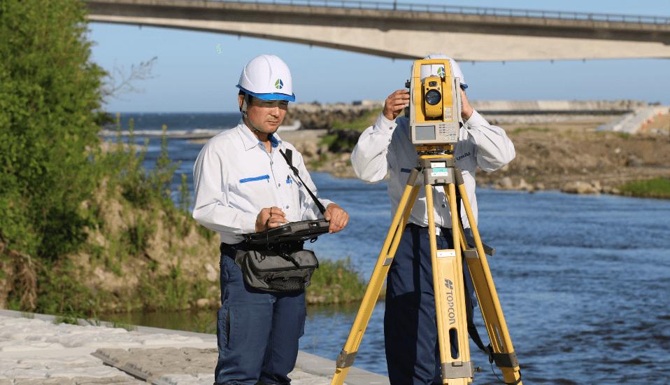 写真:測量・用地調査