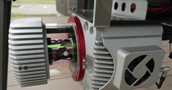 写真:UAV搭載型3Dレーザスキャナ