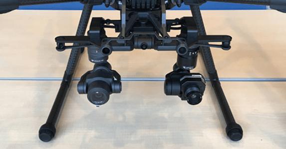 写真:UAV搭載型サーモグラフィカメラ