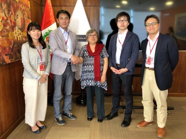 ペルー出張。文化大臣と協議の画像