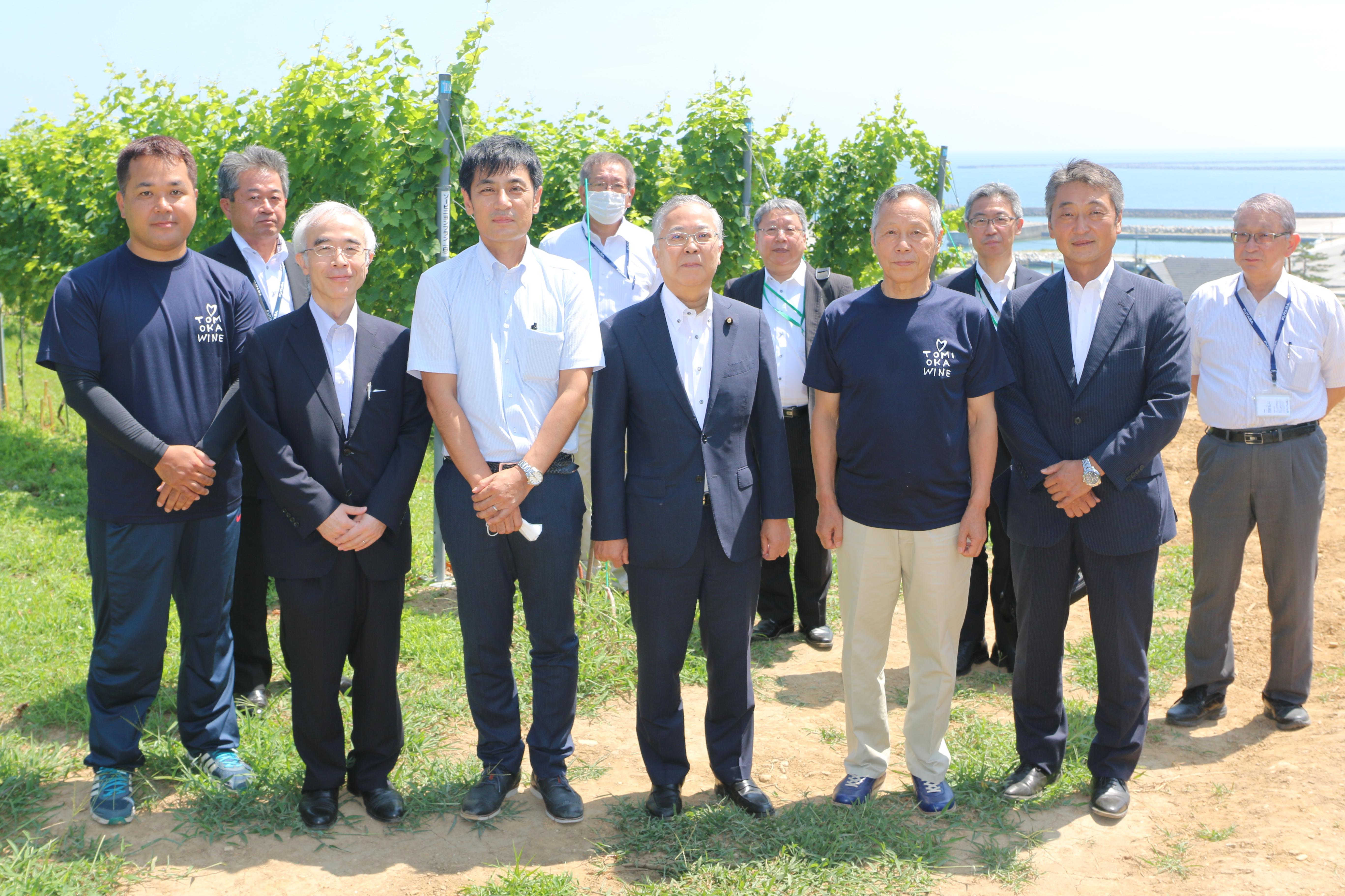横山復興副大臣が来社されましたの画像