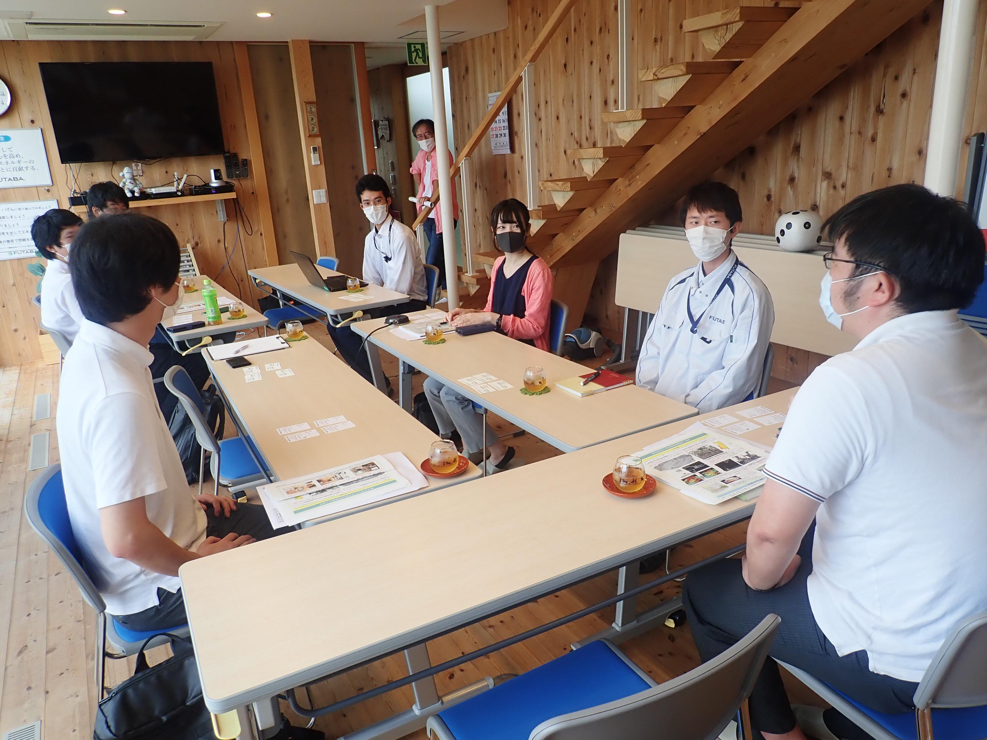 日本工営㈱若手社員との意見交換会の画像