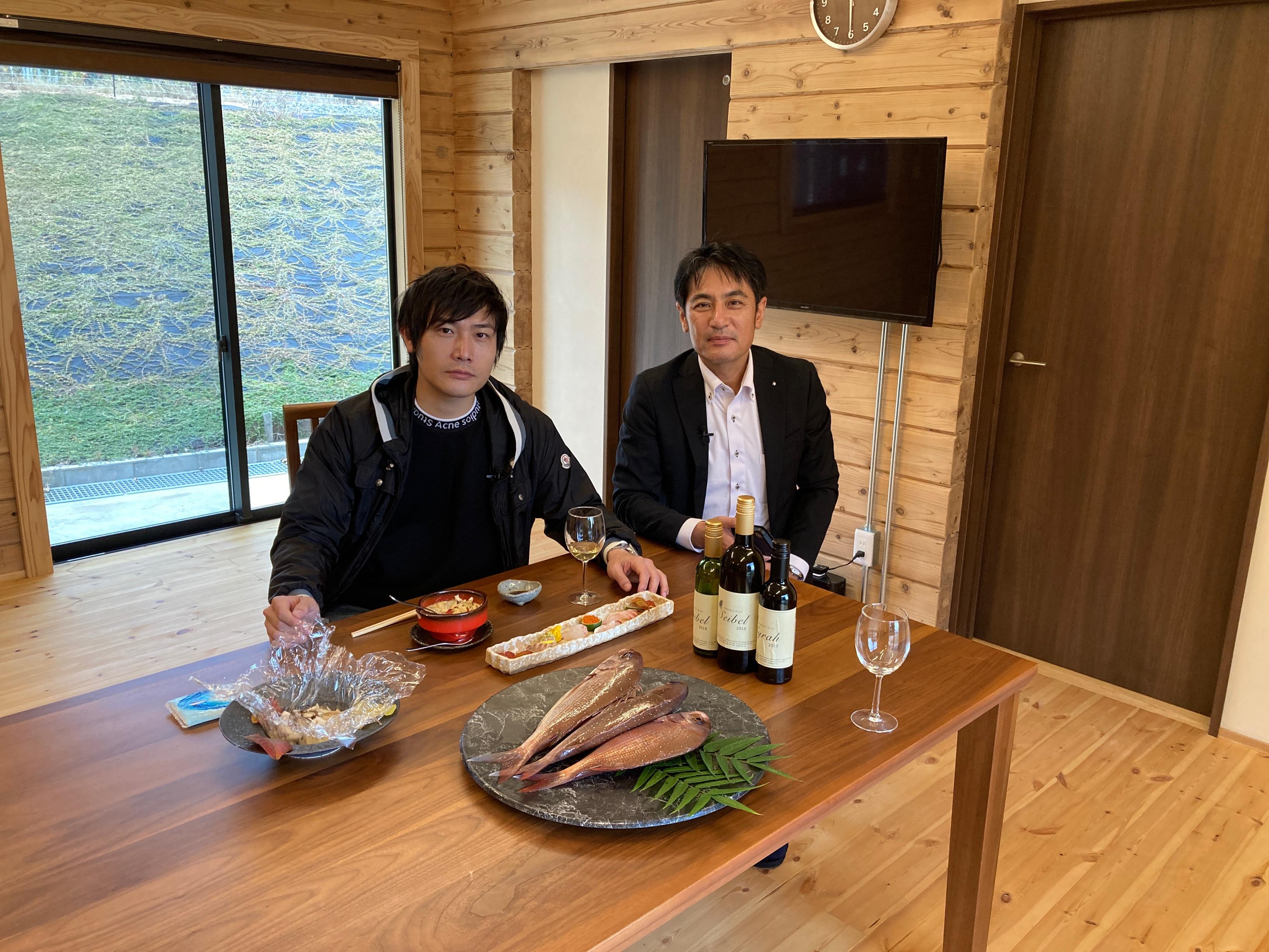 テレビユー福島(TUF)で富岡ワイン取材_吉田晧一さんが浜通りを訪ねるの画像
